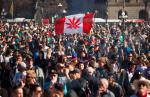 Crowds celebrated National Marijuana Day last year on Parliament Hill in Ottawa.